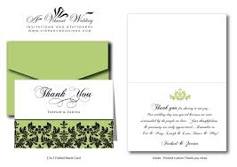 thank you notes for wedding gifts wedding card design thank you card damask best personalized