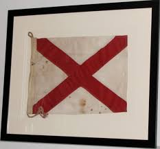 Americana Flags Antique State Of Alabama Flag Sold Historical Americana