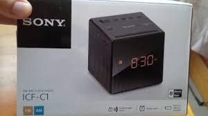 sony clock radio manual sony icf c1 fm am clock radio youtube