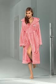 women luxury soft robe housecoat dressing gown hooded bathrobe uk