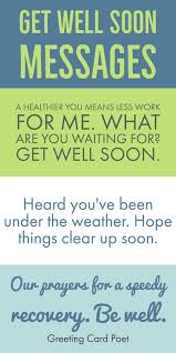 get well soon messages wishes greetings and quotes recovery