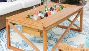 Diy Patio Table Remodelaholic Build A Patio Table With Built In Boxes