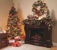 decorated christmas trees with gold ribbon cheminee website