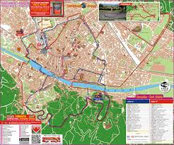 Walking Map App Florence City Hop On Hop Off Sightseeing Tour Florence