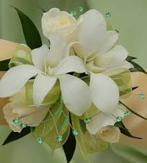 white orchid corsage white sweetheart and white orchid corsage green