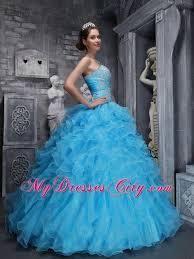 aqua blue quinceanera dresses aqua blue quinceanera dress with beadings and ruffles