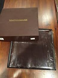 leather bound photo albums nib leathermark holson co leather bound gold trim wedding photo