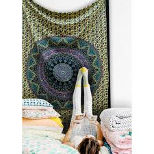 Bedroom Wall Tapestries Elephant Psychedelic Mandala Star Tapestry