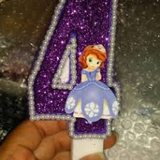 sofia the candle 3 inch sofia the birthday candle any by sweetpeacandles