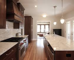 Contemporary U Shaped Kitchen Designs Kitchen Room Contemporary Espresso Finish Mahogany Wood Tall