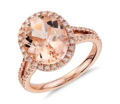 morganite gold engagement ring morganite and diamond halo ring in 14k gold 11x9mm blue nile