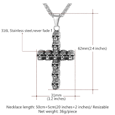 christian necklaces u7 skeleton cross christian necklaces statement gold color