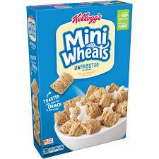 Breakfast Food Cereal Walmart Com by Kellogg U0027s Mini Wheats Unfrosted Cereal 18 Oz Box Walmart Com