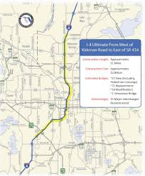 Map Of Florida Roads by I 4 Ultimate Project Us Department Of Transportation