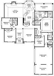 Blueprints For 4 Bedroom Homes by Bedroom Floor Plansungalow House Plan Sensational Image Ideas Home