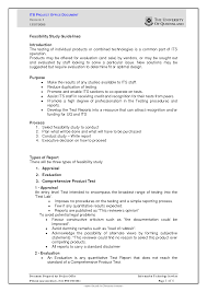 technical feasibility report template cool feasibility template contemporary resume ideas namanasa