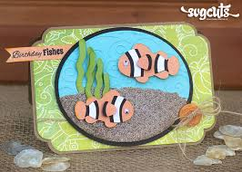 clown fish birthday card by corri garza svgcuts com blog