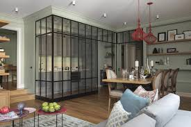 Glass Partition Between Living Room And Kitchen Separate Open Kitchen From The Living Room Partition Walls In