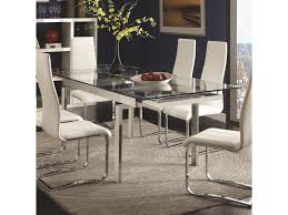 City Furniture Dining Table Coaster Modern Dining Contemporary Glass Dining Table With Leaves