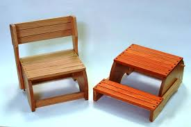wooden step stool chair new furniture