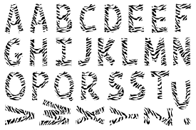 printable zebra alphabet cut out and spell out anything