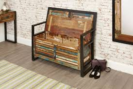 urban chic storage monks bench urban chic reclaimed wood shop