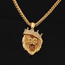 hip hop necklace images Crown lion head hip hop necklace jpg