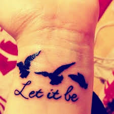 32 fabulous let it be wrist tattoos