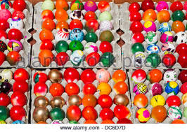 decorated eggs for sale colorful decorated eggs filled with confetti are offered for sale