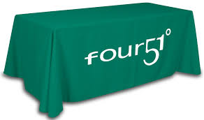 8 ft table cloth with logo table throws for trade show custom imprinted with your logo