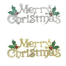 tripleclicks merry word tree hanging ornaments door