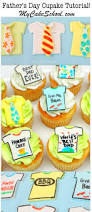 father u0027s day cupcakes ties u0026 tshirts free tutorial my cake