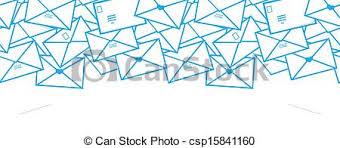 envelope border pattern vector postal letters envelopes line art horizontal seamless clip