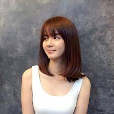 hairstyles with bangs medium length shoulder length bob with bangs image of bob hairstyles bangs new