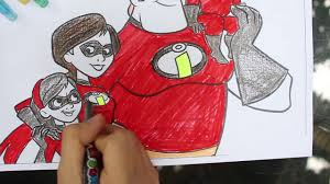 play learn colors incredibles coloring pages