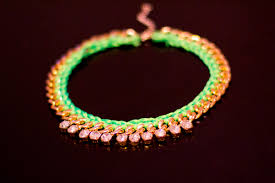 diy necklace with rope images Crashingred diy woven neon and gold chain necklace crashingred jpg