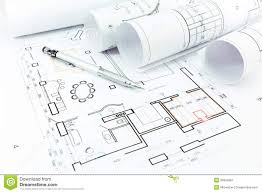 home construction plans home construction plans and pencil stock photo image 39324667