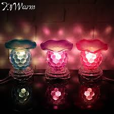 plug in candle night light kiwarm modern dimmable electric fragrance burner night lights