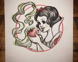 snow white sketch etsy