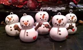 s trinkets simple sculpey snowman ornament