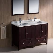 48 Double Sink Bathroom Vanity by Stunning Decorating Ideas Using Rectangular White Mirrors And
