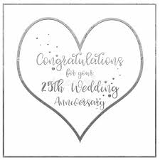 words for anniversary cards heart silver wedding anniversary card stock illustration