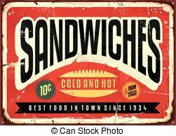 vectors illustration of retro vintage diner restaurant sign