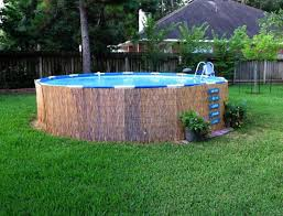 swimming pool with filter landscaping decks design landscaping