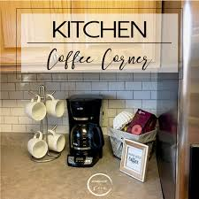 how to set up your kitchen a cute and simple coffee station in our kitchen set up a coffee