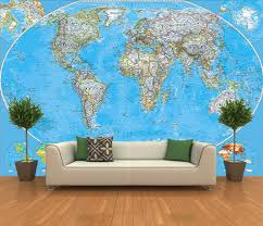 Self Stick Wallpaper by Adhesive World Map Decorating Photo Wall Mural Wallpaper Peel And