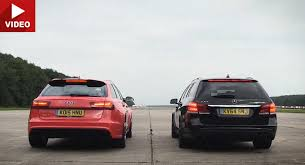 audi rs6 vs audi rs6 vs merc e63s shows just how damn these wagons