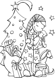 christmas present coloring santa claus and presents printable