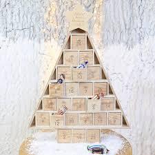 personalised wooden christmas tree advent calendar christmas