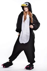 halloween fleece aliexpress com buy polar fleece cartoon penguin onesie couple